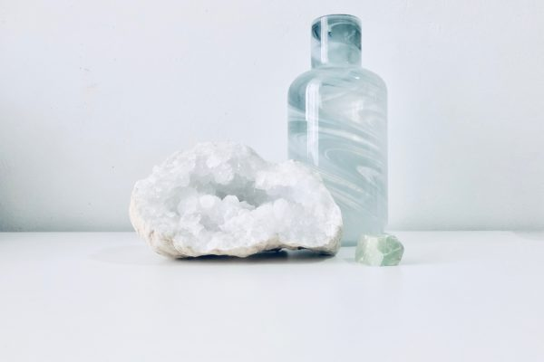 Crystal and a bottle